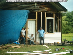 Restoring district 16 school house.