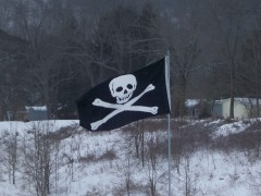 THE JOLLY ROGERS FLIES IN LOUNSBERRY