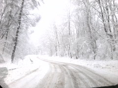 BEAUTIFUL SNOWY ROAD