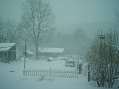 Noreaster storms in