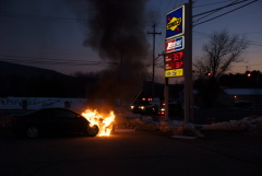 Car Fire on NYS Route 12