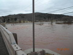 Flooding in Delancey, Delaware County