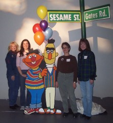 CAST volunteers at Sesame Street party