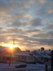 FRIGID sunrise in Endicott