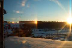 rare rainbow mock suns over Triangle, NY -5degrees
