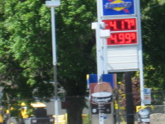 Gas at $4.17 Gallon V/Sidney