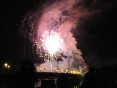 Fireworks at Strawberry Festival, Owego