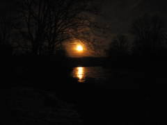 Moon Rise over the Charlotte Creek