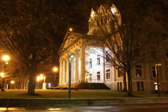 Binghamton Courthouse at night
