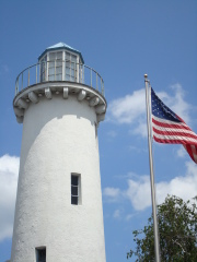 Our colors flying at the Light House
