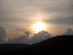 Sunset in the Catskill Mtns.