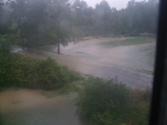 flash flood on kechum rd in lounsberry