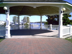 The gazeebo in Sackets Harbor, NY