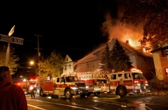 Fire in Binghamton on Schiller St. 10/19