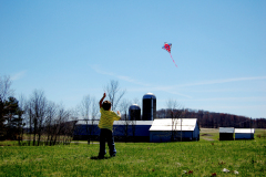 Flying a kite on Easter Sunday