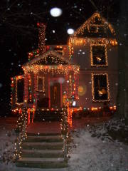 holiday lights Otsego Street Oneonta NY