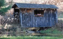 Private covered bridge.