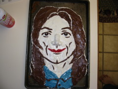 Michael Jackson made into a cookie cake