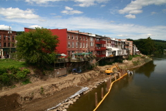 Owego Riverwalk work progressing