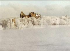 Boldt Castle in winter