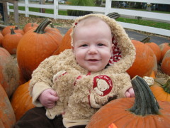Baby's First Trip to the Pumpkin Farm