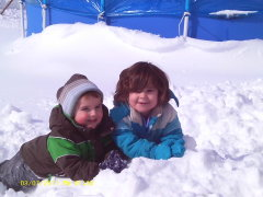 Snow day fun with the kids