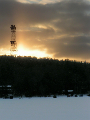 Sunrise at 2008 Perch Derby at Chenango Lake