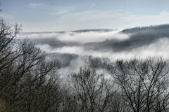 Early morning fog shrouds Owego