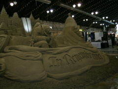 9/11 Remembered In Sand