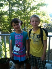 1st Day of School for Mya & Lucas Casey
