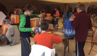 Parishioners provide over 200 Dinners